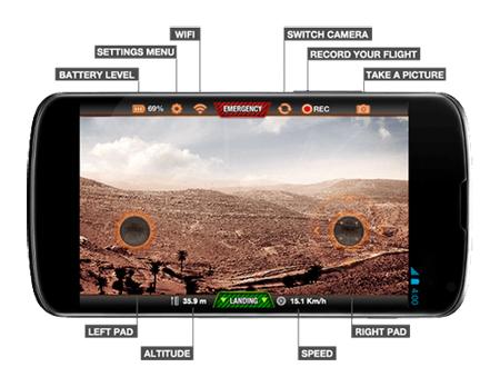 Parrot AR 2 0 afstandsbediening controller smartphone