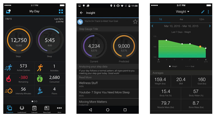 Garmin Vivoactive HR Garmin Connect App