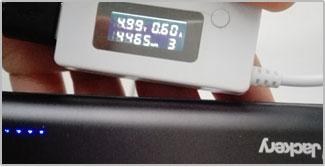 Jackery Bolt 6000 batterij meting