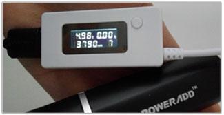 Kracht en capaciteit meting van de Poweradd Slim 2