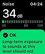 apple watch geluidsniveau noise level functie